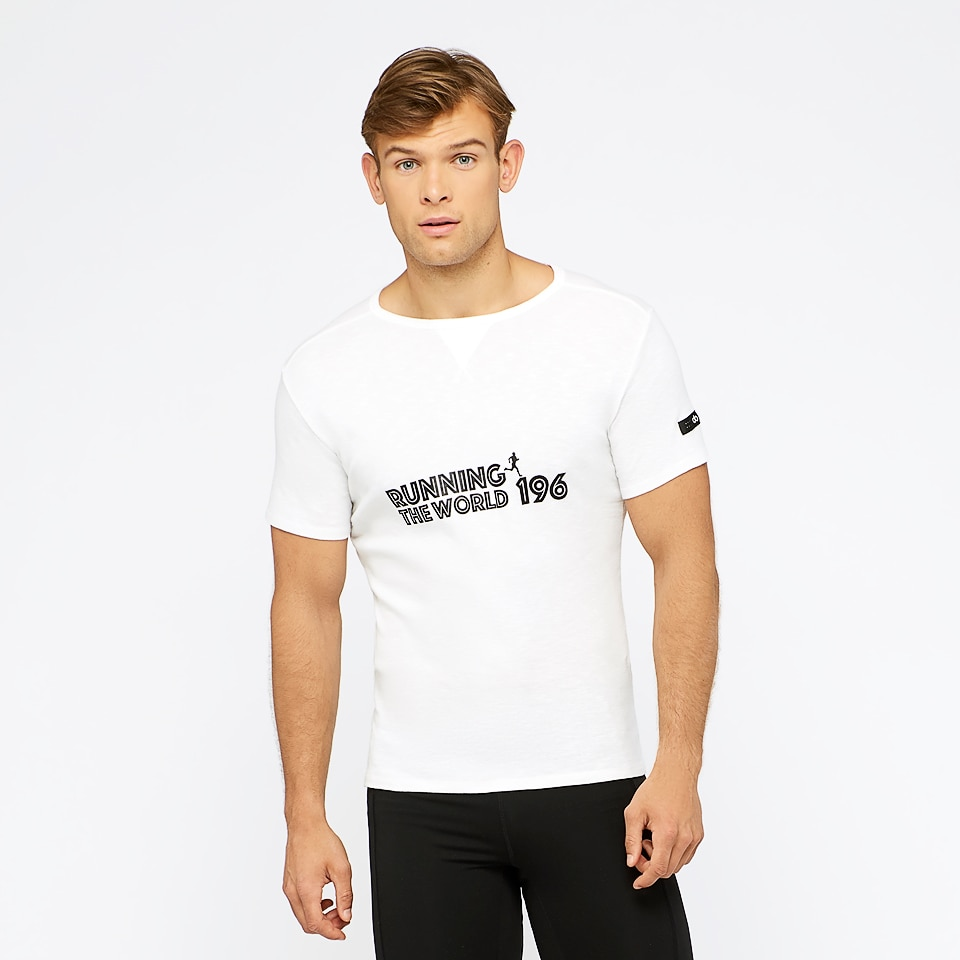 run the world 196 short sleeved t-shirt - white