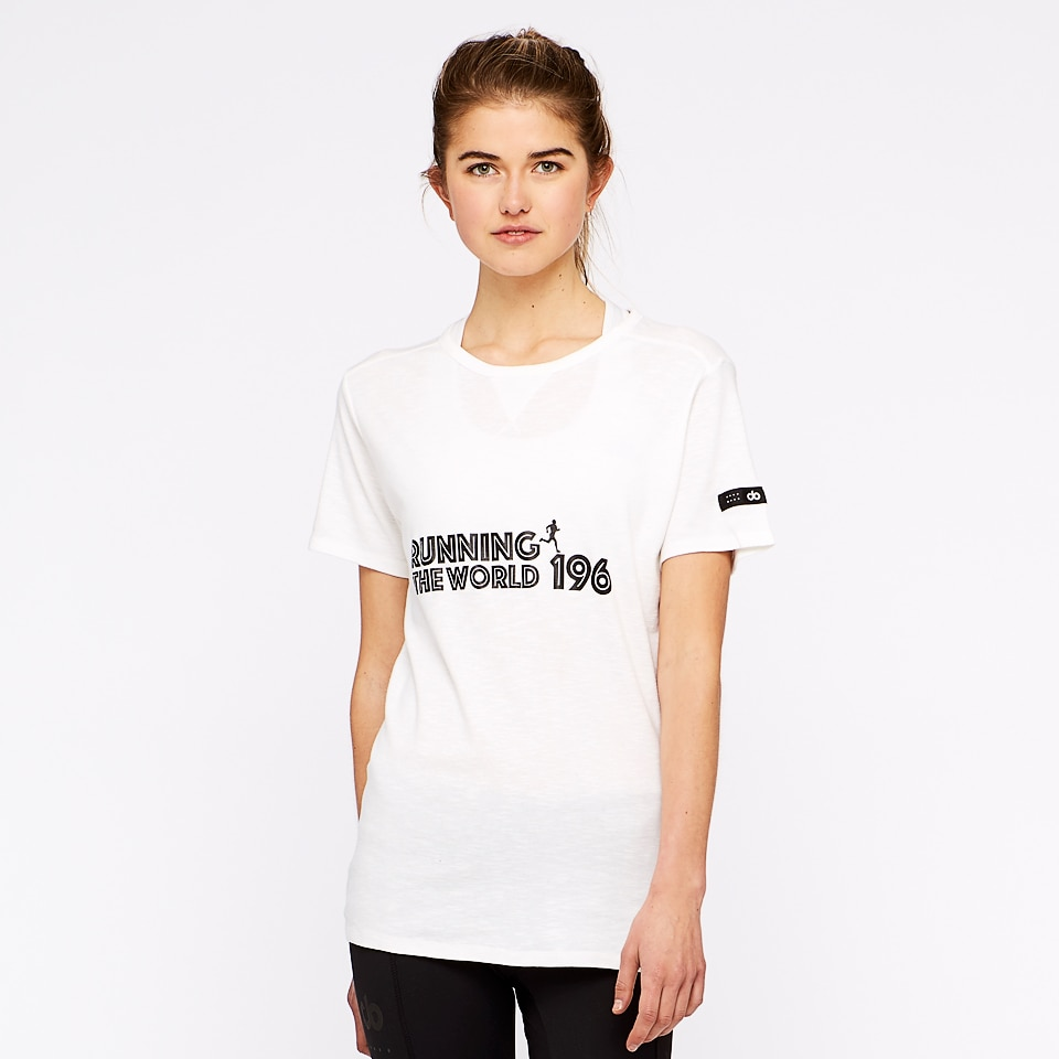 run the world 196 womens t-shirt - white