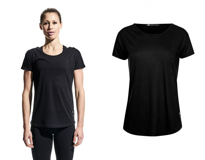 base womens sports t shirt - black