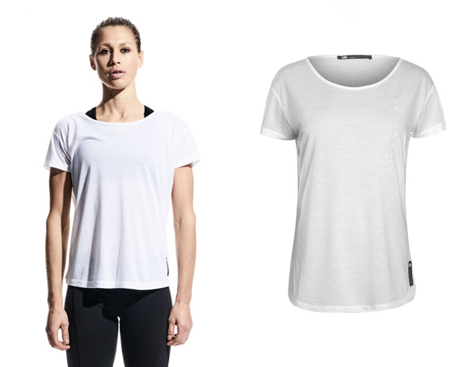 base womens sports t shirt - white
