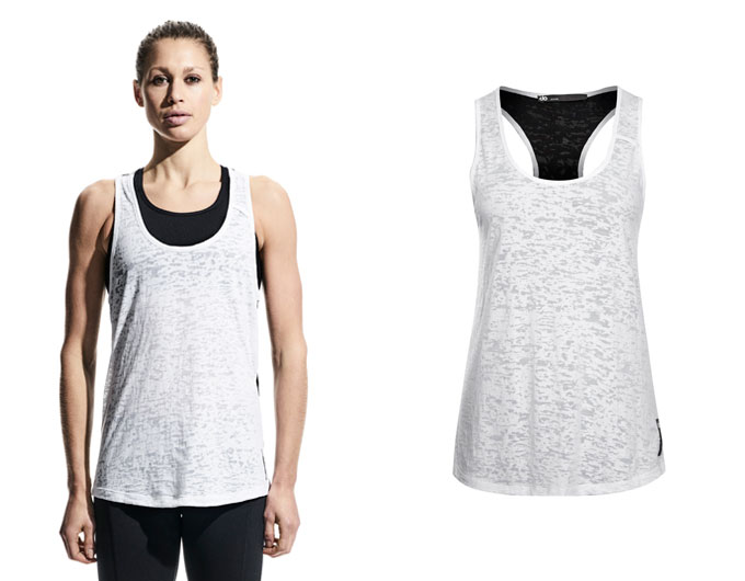 contrast womens  tank top - white/black