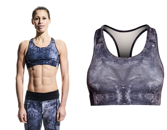 base womens sports bra top - sky