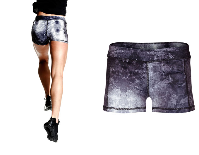 concept tights ladies sport shorts - sky