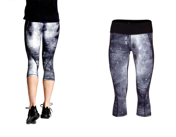 concept capri womens sports leggings - sky