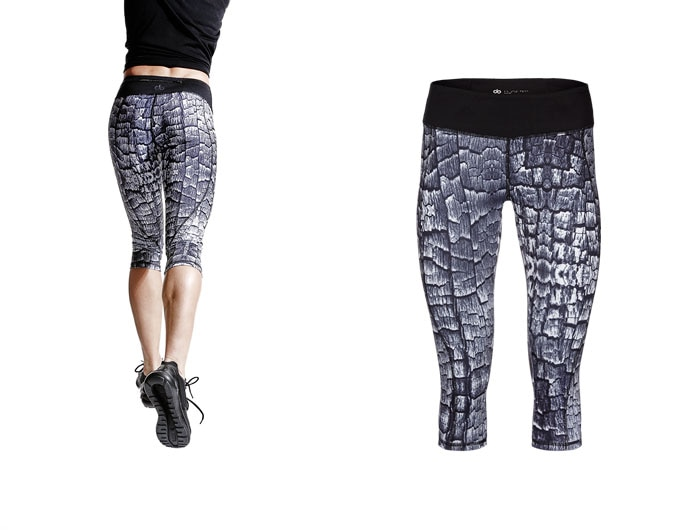 concept womens capri leggings - wood