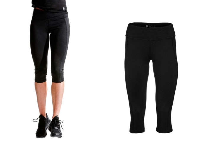 base womens capri leggings - black