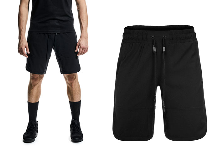 base mens woven shorts - black