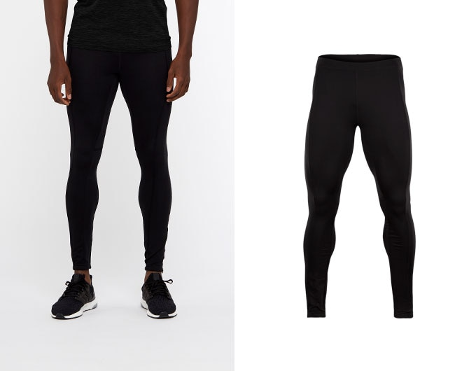 base mens leggings - black