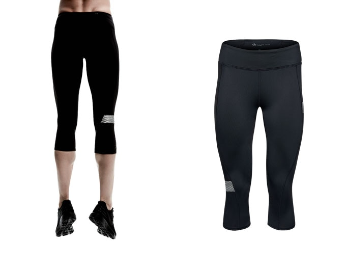 doRUN womens capri leggings - black