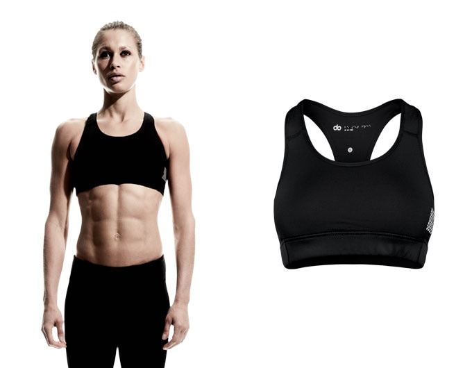 doRUN womens bra - black