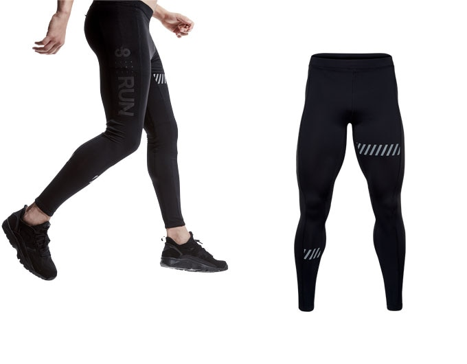 doRUN mens running tights - black