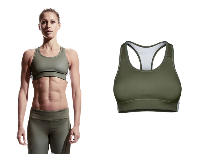 doRUN sports bra top - khaki