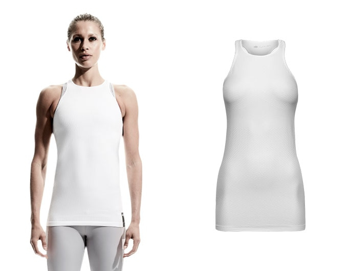 doRUN seamless womens running tank top - white