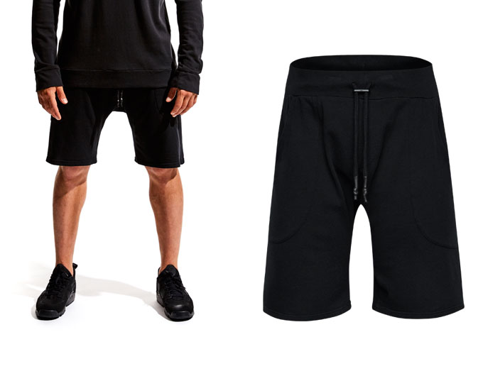 base california mens shorts - black