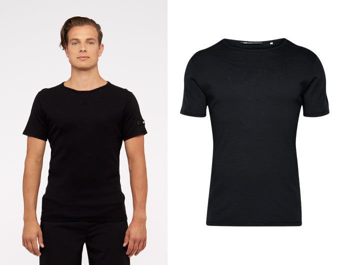 base slub mens t-shirt - black
