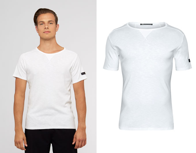 base slub mens t-shirt - white