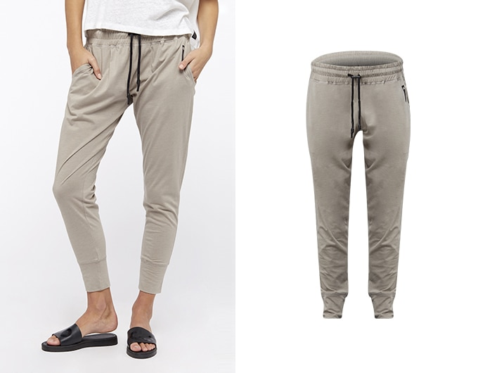 base womens lightweight sweatpants - mushroom