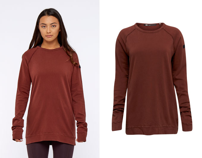 base california womens sweatshirt - rust