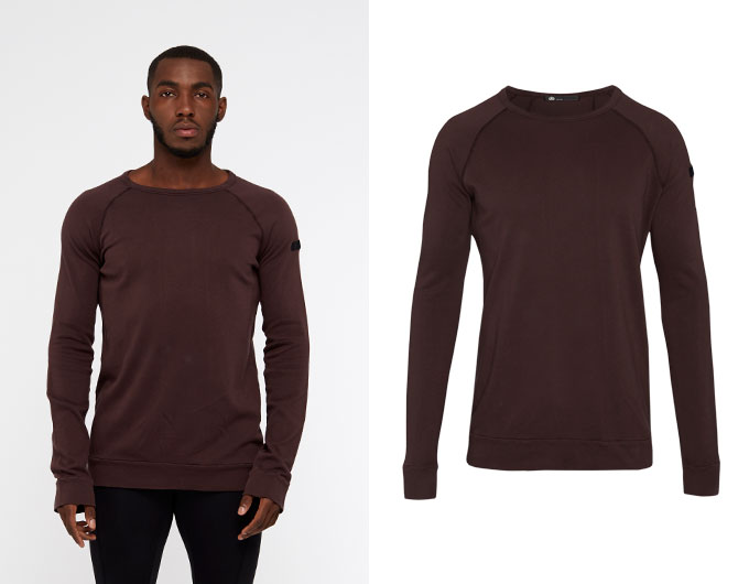 base california mens sweatshirt - chocolate aubergine