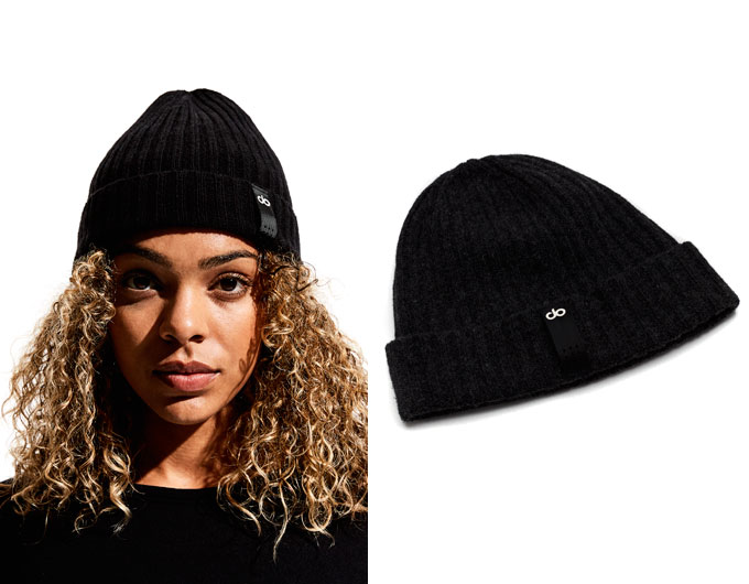 do womens beanie - black