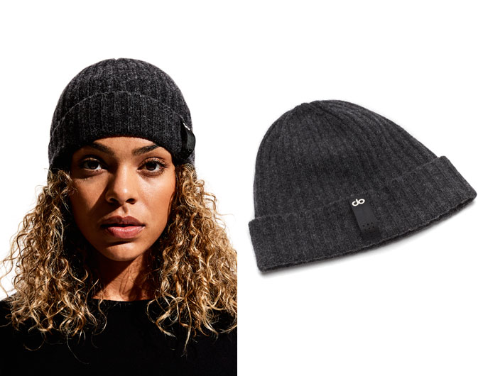 do womens beanie - charcoal marl