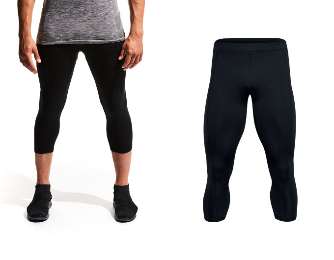 do Base Long Mens Capri Sports Leggings - Black
