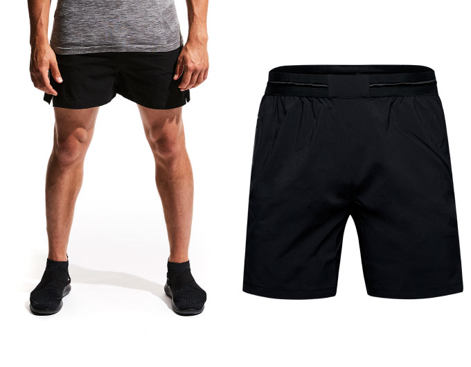 base 5 inch mens shorts - black