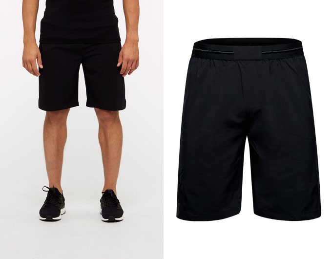 base 8 inch mens shorts - black