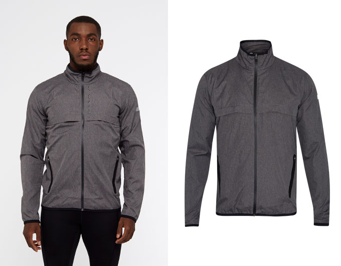 base crossover mens jacket - grey marl