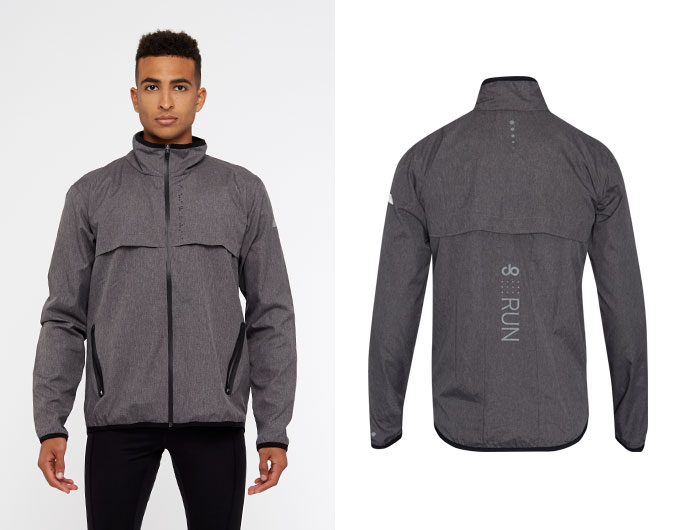 doRUN crossover mens jacket - grey marl