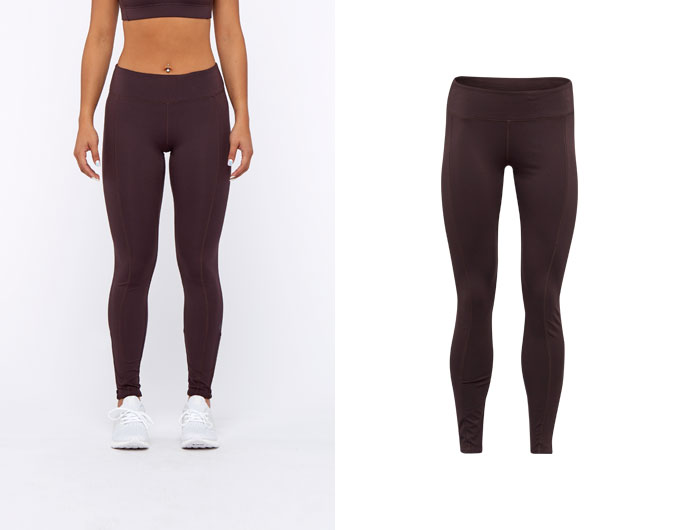 base womens leggings - chocolate aubergine