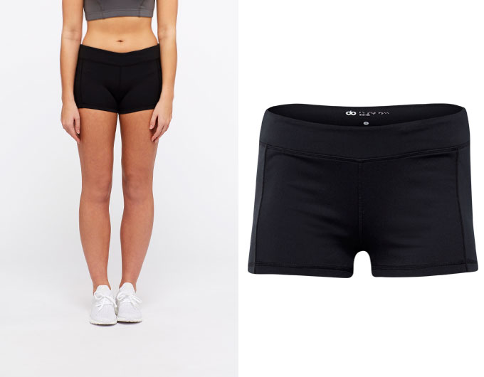 base womens shorts - black