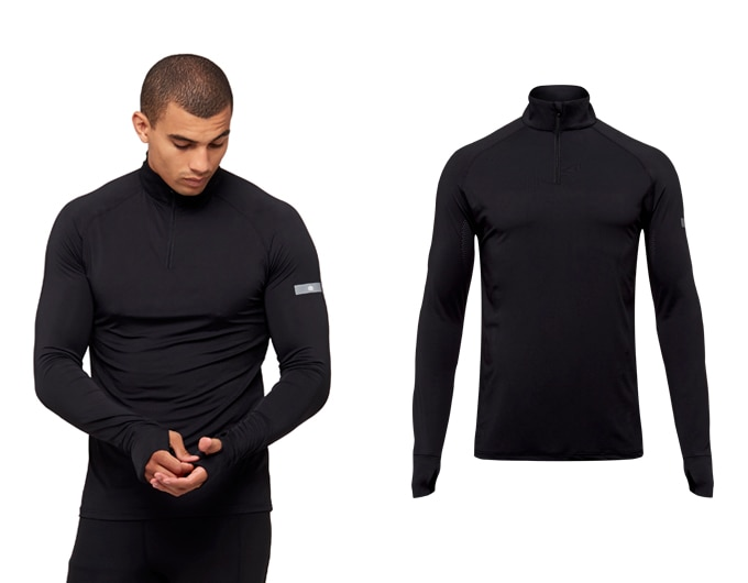 sheer speed mens 1/4 zip top - black