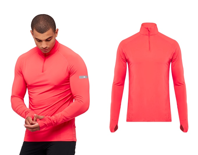 sheer speed mens 1/2 zip top - red
