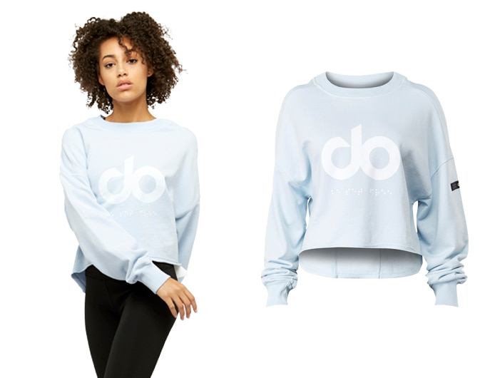 icon raw cut womens sweatshirt - ice blue