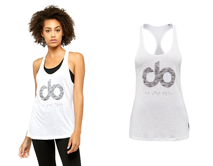 icon burnout womens vest - white
